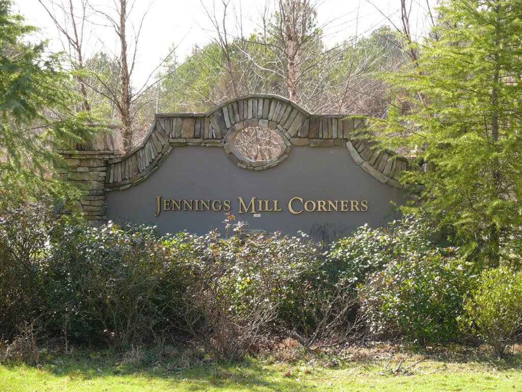 Jennings Mill Corners subdivision entrance